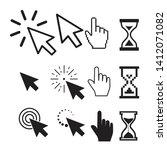 set of flat modern cursor icons   Shutterstock . vector #1412071082