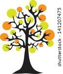 autumn tree. autumn background. ... | Shutterstock .eps vector #141207475