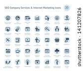 set of seo company service and... | Shutterstock .eps vector #141207826