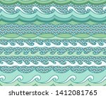 vector waves background.... | Shutterstock .eps vector #1412081765