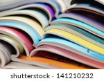 pile of colorful newspapers  ... | Shutterstock . vector #141210232