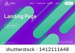 landing page. minimal geometric ...