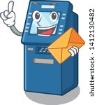 with envelope atm machine in... | Shutterstock .eps vector #1412130482