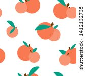 pattern fruit  oranges with... | Shutterstock .eps vector #1412132735