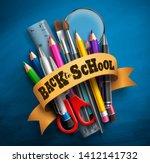 back to school vector concept... | Shutterstock .eps vector #1412141732