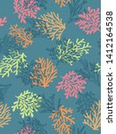 sea theme seamless pattern... | Shutterstock .eps vector #1412164538