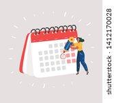 cartoon vector illustration of... | Shutterstock .eps vector #1412170028