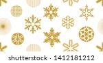 beautiful christmas seamless... | Shutterstock .eps vector #1412181212