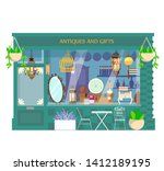 vector illustration of antiques ... | Shutterstock .eps vector #1412189195