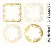 halloween golden spiderweb and...   Shutterstock .eps vector #1412220182
