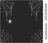halloween spiderweb corner... | Shutterstock .eps vector #1412220185