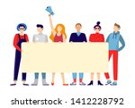 protesting people group.... | Shutterstock . vector #1412228792