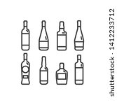 linear illustration of a bottle ... | Shutterstock .eps vector #1412233712