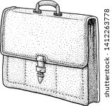 briefcase illustration  drawing ... | Shutterstock .eps vector #1412263778