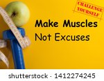 make muscles  not excuses ... | Shutterstock . vector #1412274245