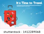 it s time to travel.travel... | Shutterstock .eps vector #1412289068