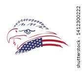 american eagle. vector bird... | Shutterstock .eps vector #1412300222