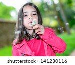 portrait of cheerful child... | Shutterstock . vector #141230116