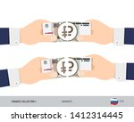 50 russian ruble banknote.... | Shutterstock .eps vector #1412314445