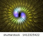 Abstract Fractal  Silky Flower...