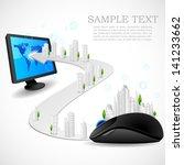 vector illustration of building ... | Shutterstock .eps vector #141233662