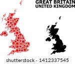 red star mosaic and solid map... | Shutterstock .eps vector #1412337545