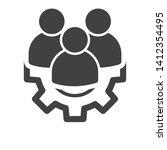 management icon. teamwork... | Shutterstock .eps vector #1412354495
