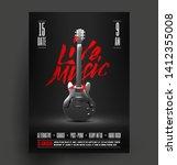 black and white live music... | Shutterstock .eps vector #1412355008