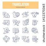 translation doodle icons... | Shutterstock .eps vector #1412370365