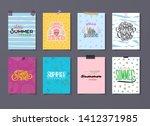 floral summer poster for sale... | Shutterstock .eps vector #1412371985