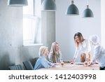 women business team. friendly... | Shutterstock . vector #1412403998