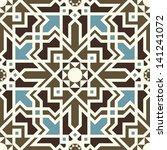 arabesque seamless pattern in... | Shutterstock .eps vector #141241072