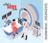 magnetic resonance imaging... | Shutterstock .eps vector #1412412152