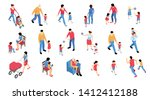 collection of isolated... | Shutterstock .eps vector #1412412188