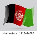 flag of afghanistan  vector eps ... | Shutterstock .eps vector #1412416682