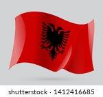 flag of albania  vector eps 10... | Shutterstock .eps vector #1412416685
