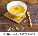 yummy vegetable pumpkin cream...   Shutterstock . vector #1412458685