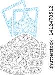 mesh banknotes salary hand... | Shutterstock .eps vector #1412478512