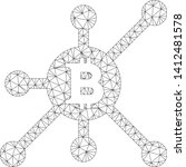 mesh bitcoin full node model... | Shutterstock .eps vector #1412481578
