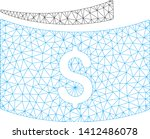 mesh banknotes model icon. wire ... | Shutterstock .eps vector #1412486078