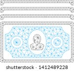 mesh banknotes model icon. wire ... | Shutterstock .eps vector #1412489228