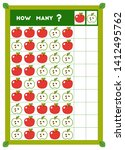 counting game  educational game ... | Shutterstock .eps vector #1412495762