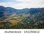 aerial view of cape winelands ... | Shutterstock . vector #141250612