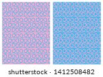 set of 2 hand drawn irregular... | Shutterstock .eps vector #1412508482