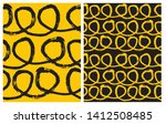 set of 2 hand drawn irregular... | Shutterstock .eps vector #1412508485
