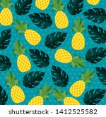 tropical pineapple and exotic...   Shutterstock .eps vector #1412525582