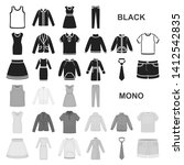 different kinds of clothes... | Shutterstock . vector #1412542835