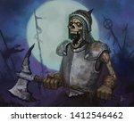 Terrifying Skeleton Warrior...