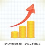 business graph. business... | Shutterstock . vector #141254818