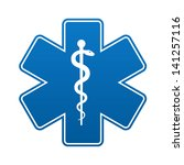 medical symbol of the emergency ... | Shutterstock .eps vector #141257116